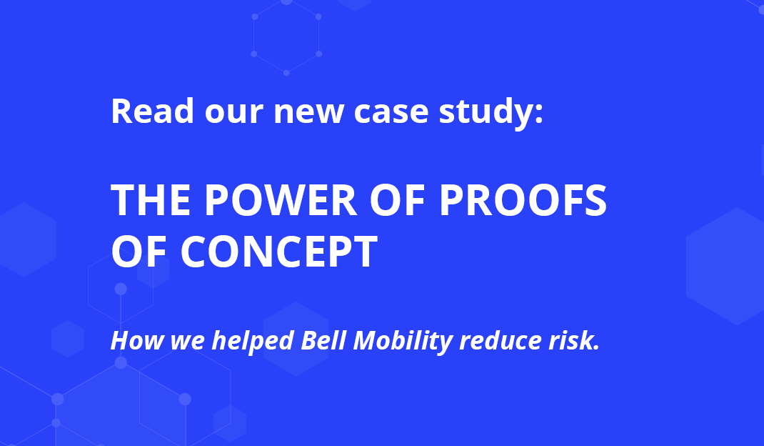 At Container Solutions we use proofs of concept (PoC) early in a project to help reduce risk. Read our case study about our PoCs at Bell Mobility.