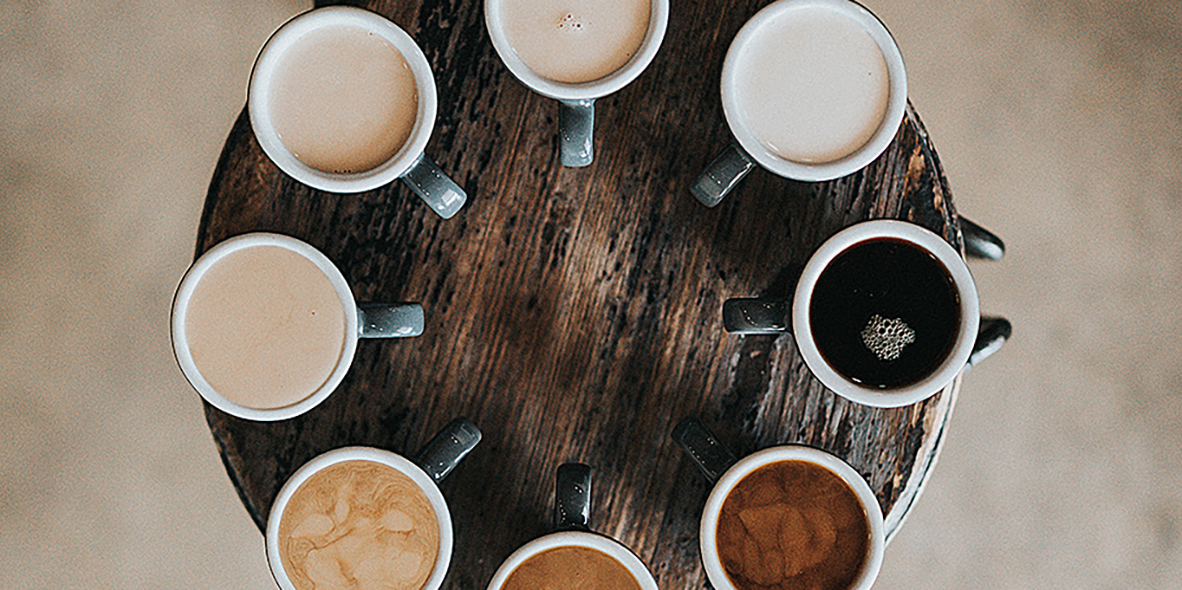 coffees of different colors